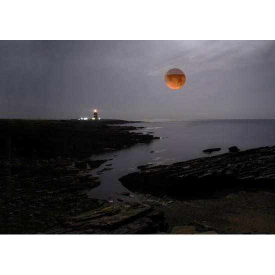 Blood Moon over Hook Lighthouse
